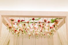 #Rittenhouse #wedding #ceremony #chuppah #crystals #hangingflowers