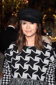 Take a boyish turn with a mod newsboy cap. Wear it with straight strands like Miroslava Duma for a retro, downtown look.