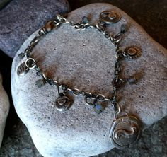 Your place to buy and sell all things handmade Charm Bracelets, Silver Bracelets, Elements Of Color, Tribal Jewelry, Handmade Silver, Labradorite, Charms, Artisan, Join