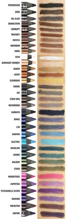 Urban Decay 24/7 Glide-On Eye Pencil Review & Comparison Swatches (33 Shades!)