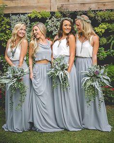 Bom dia amores! Inspiração de vestidos para as madrinhas perfeita pra quem vai optar por um casamento mais descolado!