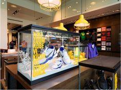 House of Hoops Harlem Hoop Dreams, Usa Store, Retail Experience, Visual Merchandising, Creative Director, Kobe, Liquor Cabinet, New York City, Product Presentation