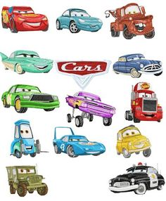 free download pixar cars embroidery designs