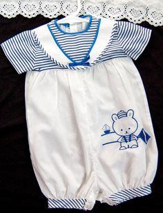 4cc3256ba online here 2b60b 35ca4 vintage 1960s baby boy white romper suit 0 3 ...
