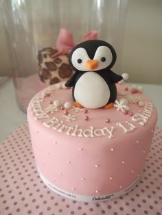 Scareltt is gonna have a penguin themed cake every year for her birthday