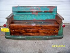 Custom Vintage Chevy Tailgate Bench........made by my husband