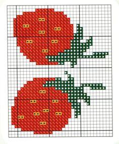 O que você procura? Tiny Cross Stitch, Cross Stitch Fruit, Cross Stitch Kitchen, Cross Stitch Kits, Counted Cross Stitch Patterns, Cross Stitch Charts, Cross Stitch Designs, Perler Bead Art, Tapestry Crochet