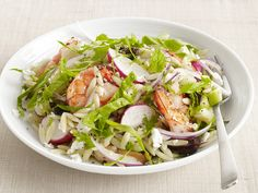 Spinach-Orzo Salad with Shrimp Recipe : Food Network Kitchens : Food Network - FoodNetwork.com