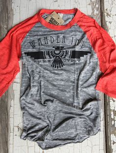 wander inn 3/4 sleeve raglan - Junk Gypsy co.