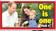 One is one,  Happy Birthday Prince George