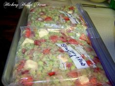 Strawberry Rhubarb Pie In A Bag..Freezing your pie filling in a gallon bag for 1 pie