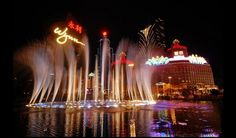 Wynn Macau - Water Fountain Show. Free; starts every 20 mins; 30 mins from U of Macau. Other things to do inside like shopping and gambling.