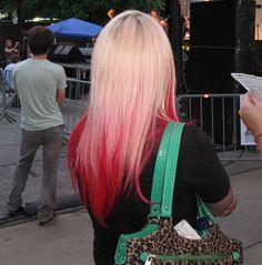 pink hair underneath blonde - Google Search