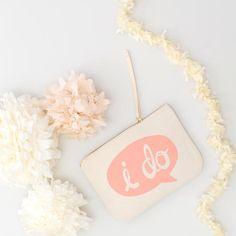 Pochette trousse I DO par Alphabet bags - 100% coton - cadeau - Boutique La Rose Pourpre