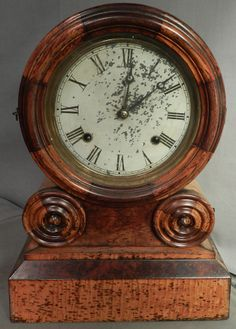 Antique Cast Iron Ansonia Clock Co Ny Pat 1882 Majestic