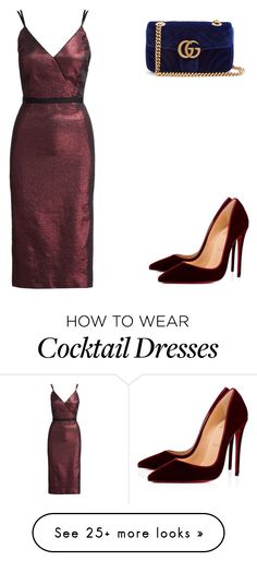 """Untitled #49"" by maritafashvogue on Polyvore featuring Cinq à Sept, Christian Louboutin and Gucci"