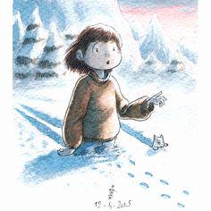 Dans la neige ...