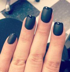 Black on matte black manicure Matted Nails, Les Nails, Glamour Nails, Pinterest Design, Colorful Nail Designs, Toe Nail Art, Fancy Nails, Beautiful Nail Art, Perfect Nails