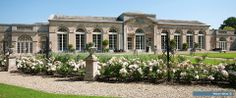 Woburn Abbey Sculpture Gallery and Camellia House conservatory, Bedfordshire, England, UK White Exterior Houses, Dream House Exterior, Dream House Plans, Country House Wedding Venues, Luxury Wedding Venues, Wedding House, Luxe Wedding, Summer Wedding, Farmhouse Paint Colors