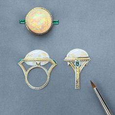 #moodoftheday by @yanajewellery #Opal #byYana #люблюсвоюработу