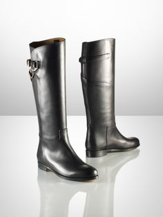 Sachi Calfskin Riding Boot - Ralph Lauren Collection