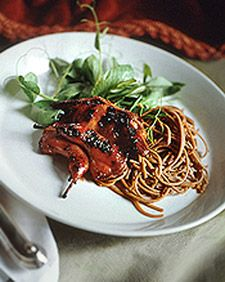 The perfect size for an appetite-whetting first course, the quail also make an elegant lunch.