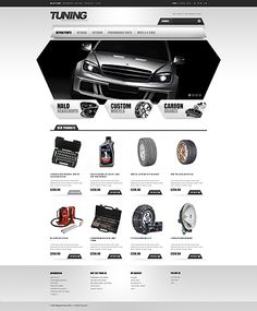Template 45526 - Car Tuning Magento  Theme