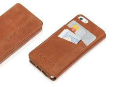 """Amazon.com: KAVAJ leather case cover """"Dallas"""" for the Apple iPhone 5 cognac brown - genuine leather with business card compartment: Cell Pho..."""