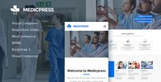 Buy MedicPress - Health & Medical WordPress Theme by SliceTheme on ThemeForest. MedicPress is a clean and responsive theme for medical and healthcare-related businesses. This premium WordPress Them. Medical Websites, Website Themes, Premium Wordpress Themes, Business Website, Website Template, Clinic, Dental, Health Care, Medicine