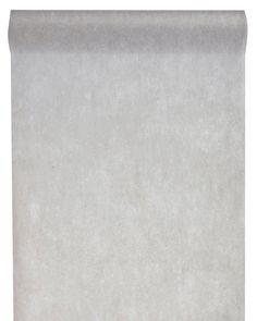 Grå bordslöpare på rulle i non vowen material. Löparen är 30 cm bred och 10 meter lång.