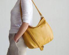 Bolso hobo de piel marrón cartera de cuero cuero por Laroll