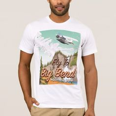Shop Big bend national park vintage travel poster T-Shirt created by bartonleclaydesign. Personalize it with photos & text or purchase as is! Vintage Travel Posters, Tropical Fish, Vintage Fashion, Vintage Style, Fitness Models, National Parks, Casual, Sleeves, Mens Tops