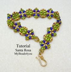 Beadwork Bracelet Seed Bead Bracelet SuperDuo by mybeads4you