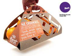 Cool Packaging Design for Oranges by Ben Oliver, via Behance Organic Packaging, Fruit Packaging, Cool Packaging, Food Packaging Design, Packaging Design Inspiration, Brand Packaging, Product Packaging, Vegetable Packaging, Orange