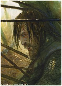 Boromir - Although I love the way Sean Bean played him, I still like him in the book, a little better; he was more confident and powerful, but also more arrogant. Boromir is a man who almost killed his friend, but he died defending them; a true redemtion.