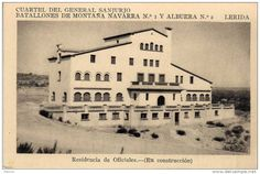 Gardeny: 157 - postal Cuartel del General Sanjurjo ,Lerida  residencia de oficiales