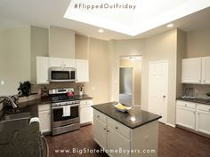 #FlippedOutFriday - Another happy house seller relieved of duty! This home was going to require some work and frankly, there was just no means of getting it done in a timely manner. The original owner had had enough listening to people who didn't quite understand her predicament. But someone finally did (eeehhm, Big State…) – and was quickly able to step up to the plate and get the job done.Check out this fantastic kitchen remodel! #webyhouses