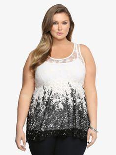 Plus Size Lace Tank Top
