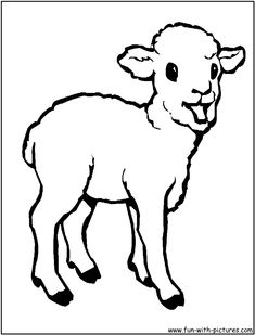 Animal Coloring Pages | Baby+animals+coloring+pages+lamb-coloring-page.png