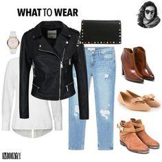 Aj v tomto prípade platí staré dobré ,,v jednoduchosti je krása,,. Čím jednoduchší outfit, tým väčší štýl.❤Čierna koženka, biela košeľa a padnúce džínsy sú absolútnym základom jesenného šatníka.🍁K outfitu som vybrala troje zaujímavé topánky a štýlovú kabelku s farebným vybíjaním. Nezabudnite na hodinky, aby ste všade prišli včas.😘