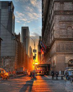 ~~ W. 57th Carnegie Hall Sunrise by James  Polk~~