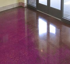 Inspirational Purple Concrete Stain