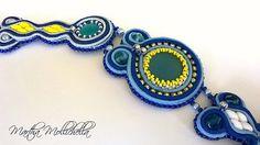 soutache necklace handmade in Italy by Martha Mollichella Handmade Jewelry - Lacasinaditobia Lacasinaditobia