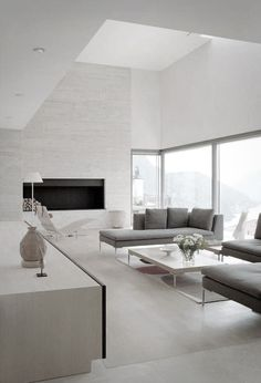 Modern Living Room At Casa Fontana by Stanton Williams Architects