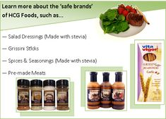 Avoid un-safe brands of spices, dressings, and grissini sticks while on Phase 2 of the HCG diet or you might STALL or even worse, GAIN! www.diyhcg.com