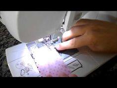 Como colocar babadinho de tecido em fraldas - YouTube