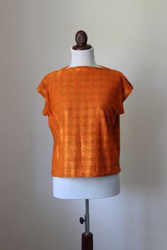 Vintage Orange Square Blouse by cocoandorange on Etsy