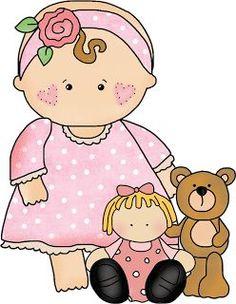 Image result for baby girl clip art