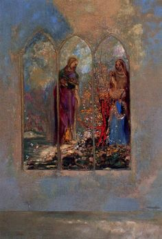 The Window by Odilon Redon