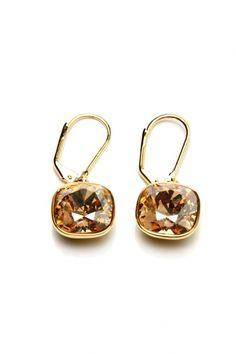 Lovely goldplated swarovski earrings.